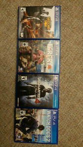 Ps4 games all mint condition