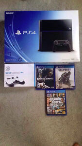 500GB PS4+3games+SCUF Controller