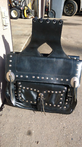 Genuine leather motorcycle saddle bag - new condition