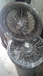 "3 BRAND NEW 15"" WIRE WHEEL COVERS (chevy caprice)"