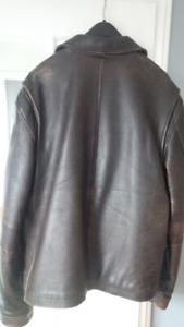 Men's Genuine Leather Jacket - Eddie Bauer