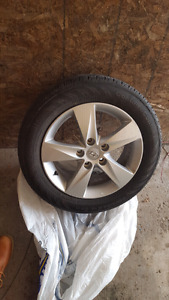 OEM hyundai rims with almost brand new tires
