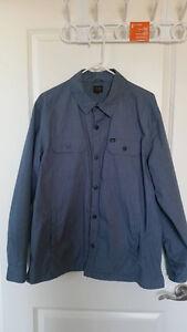 Men's OBEY Ranger Shirt Jacket Blue Large