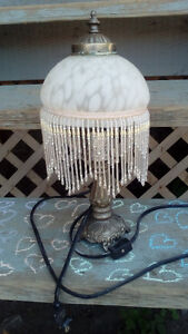 Old Glass and Metal Lamp