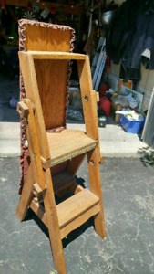 Antique Ironing Board/Step Ladder/Chair