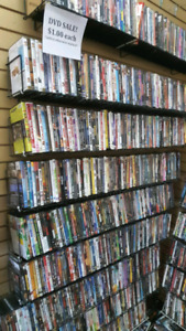 Thousands of dvd movies for sale $1 each p market games