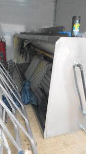 Stainless Steel Exhaust Hood, Built-in Returns, Fire Suppression Cambridge Kitchener Area image 1