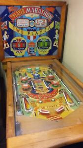 Woodrail pinball machine.