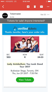 Lady Antebellum, Brett Young, Kelsea Ballerini - June 29th