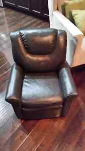Never used! Kids leather recliner chair.