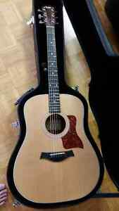 Taylor 210e guitar with hardshell case