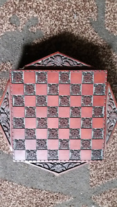 Beautiful Decorative Chess and Checkers Set for Sale