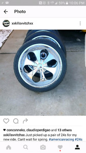 Look to trade my American Racing 24 inch 6 bolt GM rims