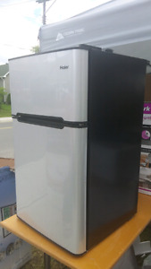 Haier 3.2 mini fridge with freezer