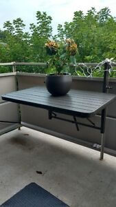 Outdoor folding balcony table for SALE!