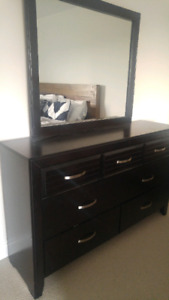 Espresso Dresser with Mirror