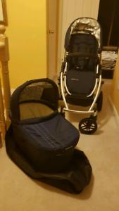 Uppababy vista stroller and bassinet