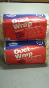 Duct wrap with foil facing
