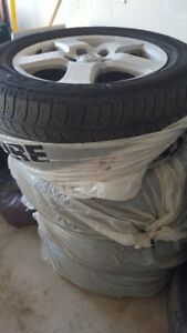 Tires 215/60R16 on Original Toyota Alloyed Rims with Locks, Key