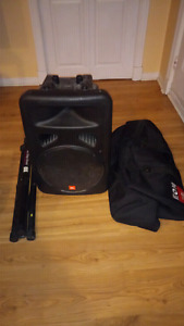 JBL EON15 G2 Speaker with Stand and Bag