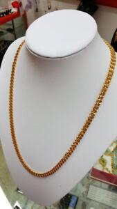 18K Gold PVD Dubai Cuban Chain