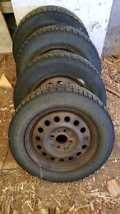 195/60-15 Goodyear Nordic Tires on Rims