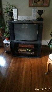 """SONY 27"""" TRINITRON WITH STAND AND REMOTE"""
