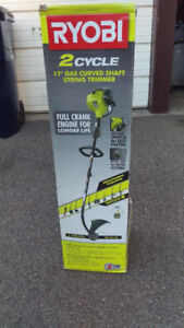 New in box  Ryobi 17-inch Curved Shaft Gas String Trimmer