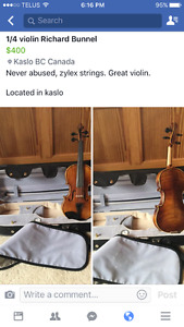 4 violins for sale