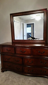 Dresser, Mirror, Armoire & 2 Night Tables for SALE