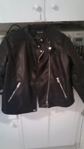 Dress up leather look jacket