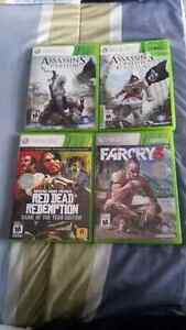 red dead redemption,assassin's creed 3, far cry 3 and Ac4