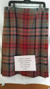 Women's Wool Kilts and pleated skirts