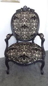 Antique Art Nouveau Rosewood Bergere Occasional Side Chair