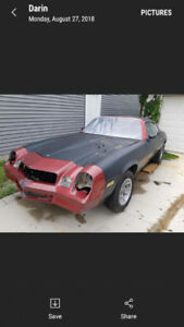 1980 camaro pro street project for sale now with interior