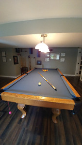 POOL TABLE Goldenwest Solid Oak