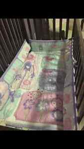 Pink/purple crib bedding