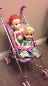 Toddler princess dolls and stroller   $20 for all