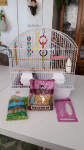 Bird Cage with all supplies asking $50