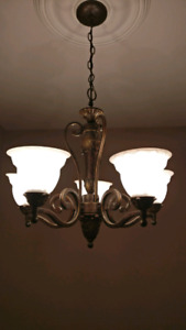 Chandelier and Wall sconces $50
