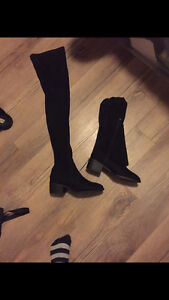 Knee High Black Suede Boots London Ontario image 1