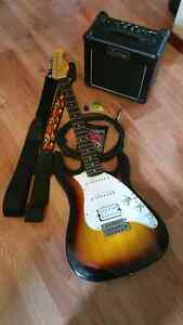 Guitar with amp