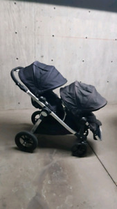 Baby jogger city select 2 seats black, lots of accessories
