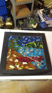 Stain glass canoe picture