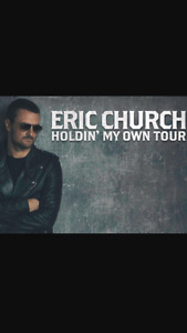 2 Tickets Eric Church Rogers Arena Mar. 14