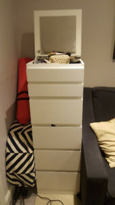 Ikea 6 Drawer unit with mirror