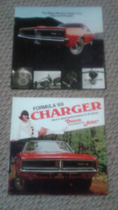 1969 Dodge Charger and Dodge Scat Pack sales brochures