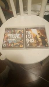 Ps3 games GTA 5 The Last of Us