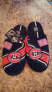 Mens NHL Montreal Canadiens Slippers  New with Tags