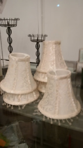 6 Beautiful fancy chandelier / scone lamp shades - almost new